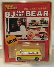 DTE RARE ROAD CHAMPS B J AND THE BEAR YELLOW VAN PREPRO ON MOCK UP PACKAGING