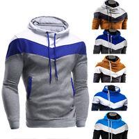 Hombre Invierno Sudadera Con Capucha Abrigo suéter chaqueta jersey manga larga E