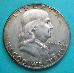 1952-S FRANKLIN HALF DOLLAR, 90% SILVER. RAW, UNCERTIFIED & CIRCULATED. (2456)