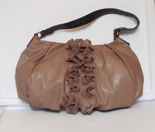 Simply Vera Wang Large Ruffled Mushroom Satchel Handbag Purse Black Trim NWT