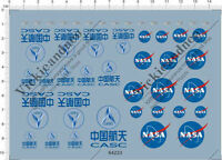 Universal All Size NASA CASC China Aerospace Science Logo Model Kit Water Decal