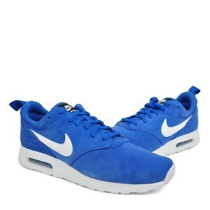 Nike Air Max Tavas LTR Mens Size 10 Training Running Cross Trainers Blue Suede