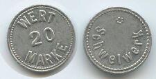 GX123 - Wertmarke Schwelwerk 20 Wert Marke Pfandmarke