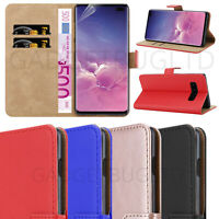 CASE FOR SAMSUNG GALAXY S10+ PLUS REAL GENUINE LEATHER SHOCKPROOF WALLET FLIP