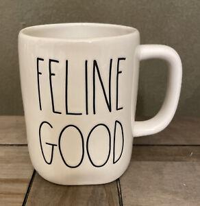 Rae Dunn - FELINE GOOD LL - White Ceramic Coffee Mug - Cat Mom Cat Dad
