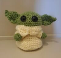 """Baby Yoda Inspired The Child Small Crocheted Plush Doll 5"""""""