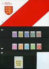 Jersey 2015 MNH Crest Definitives 11v Set Presentation Pack £5 Hologram Stamps