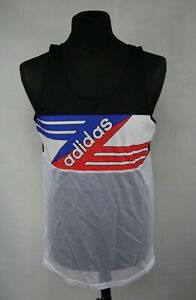 ADIDAS VINTAGE RUNNING TANK SHIRT size D6 ( M ) MADE IN WEST GERMANY