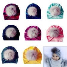 New Newborn Baby Boys Girls Baby Beanie Velvet Cap Hat Photo Photography Prop