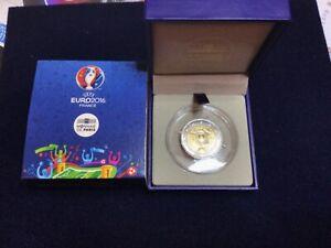 Frankreich 2 Euro EM 2016 in einen original Etui