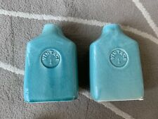 A Set Of 2 Off Turquoise Ceramic Modern Flower Vases Wedding Centerpieces