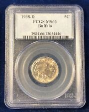 1938-D Buffalo 5c Nickel PCGS MS66 - Beautiful Color, Super PQ