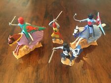 Timpo Mounted & Foot Medieval Knights (2) Toy Soldiers - 1970's