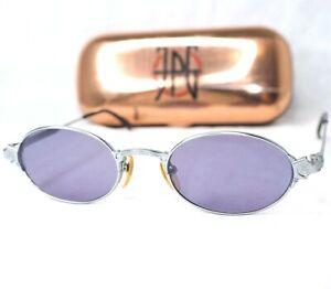 Jean Paul Gaultier 58-5174 sunglasses silver gray jpg purple vintage oval small