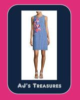 NEW ~ Women's Tommy Bahama Gabriella Gingham Linen Dress ~ Size XSmall