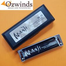 Suzuki Manji Harmonica 10 Hole Diatonic M20 in Carry Case Key - G M-20