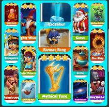 15 x Rare Coin Master Cards (fast Delivery)