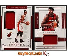 16-17 Hassan Whiteside National Treasures Game Worn Patch /99 & /49 - 2 Card Lot