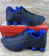 Nike Shox R4 Men's Running Shoes Black Game Royal Blue Sneakers