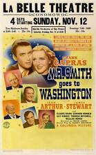 FRANK CAPRA'S MR. SMITH GOES TO WASHINGTON Movie POSTER 27x40 Jean Arthur James