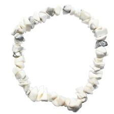 Natural Himalayan Howlite Crystal Chip Stretchy Bracelet - Selenite Charged