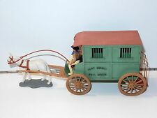 TIMPO TOYS SWOPPETS WILD WEST - HORSE DRAWN VEHICLE CLAY COUNTY JAIL WAGON 1960s