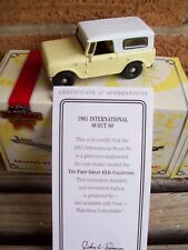 MATCHBOX 1961 INTERNATIONAL SCOUT 80 TRUCK 4X4, MIB WITH CERT. OF AUTHENTICITY