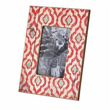 Photo Frame Wooden Red Patten Modern Vintage Country - Retro Strawberry