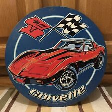 Chevrolet Corvette Sting Ray Advertising Display Metal Sign New Car Parts Sales