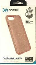 Speck  Presidio Clear+Glitter Case for iPhone 6s/7/8 - Bella Pink/Gold #6603