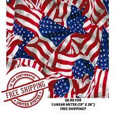 "Hydrographic Water Transfer Hydro Dip Film American Flag 2 1M (19""X38"")"