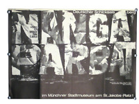 Nanga Parbat Austellungs Plakat A. Wischnewski München 1964 Künstler Poster 60er