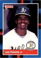 1988 Luis Polonia Donruss Baseball Card #425