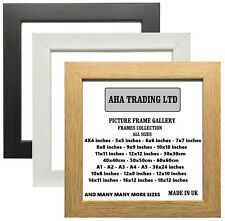 Square Picture Frames Poster Frame Modern Photo Frames Wood Effect- ALL SIZES