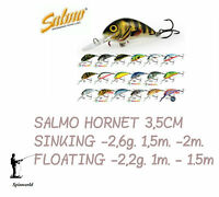 Salmo HORNET 3,5cm . Variety Colours FLOATING & SINKING VERSIONS
