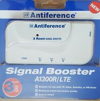 ANTIFERENCE A1300R-lte 3 Way Digital TV Aerial Signal Booster Amplifier. NEW