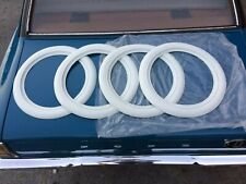 "White Band Port a wall Topper Tire insert trim set 4 Fits 13"" steel Wheels std"