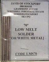Javis LMS70 - 25gms Pack Low Melt 70 Deg. Solder for White Metal 2nd Class Post1