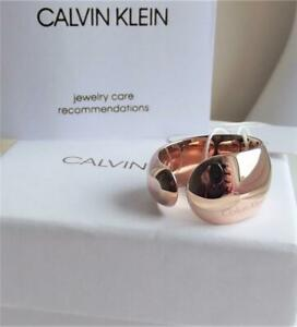 CALVIN KLEIN ROSE GOLD PLATED STAINLESS STEEL RING UK-Q; US-8.5 BNWT BOX RRP £85