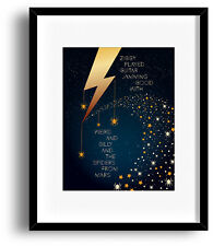 Ziggy Stardust by David Bowie - Print Poster Wall Art - Song Lyric Rock Music