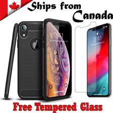 For Apple iPhone SE X XR XS 12 11 Pro Max 7 8 Plus Heavy Duty Case Carbon Cover