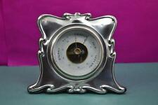Antique Sterling silver desk top barometer superb working condition W.H.L 1904