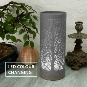 Electric Plug-In Grey Aroma Lamp Wax Melt Oil Burner Warmer Colour Changing