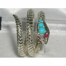 Turquoise Wrap Fine Rings