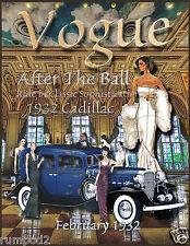 Art Deco/Vogue Poster/Fashion Magazine Cover/Print /1932/17x22 in/Reproduction