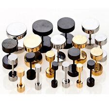 Body Piercing Ear Studs Usa Fast Round Stainless Steel Screw Men's Women Earring