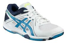 Asics Gel Task White / Blue Yellow Volleyball Squash Indoor Court Shoes Trainers