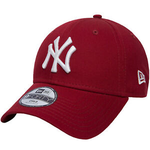New Era Kids New York Yankees League Essential 9Forty Cap Hat - Red - 4-6 Yrs