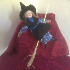Vintage Colorado Artist Filis Coit Handmade Signed Good Luck Witch Doll w/tag