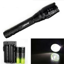 Hot 4000 Lumen 5 Modes CREE XML T6 LED Zoomable Torch Lamp Light 18650 Charger